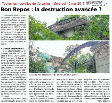 Viroflay _ 20170510_Toutes Les Nouvelles De Versailles _ Incendie Bon Repos